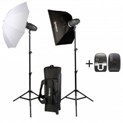 Kit estudio 2x 200 vatios seg