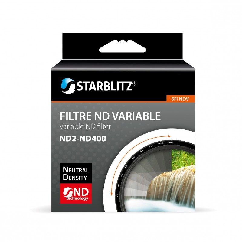 STARBLITZ SFINDV58 ND variable (ND2-ND400) filtro (Ø 58mm)
