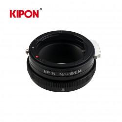 Anillo mecanico MF lente Nikon G camara Sony E con posicion macro